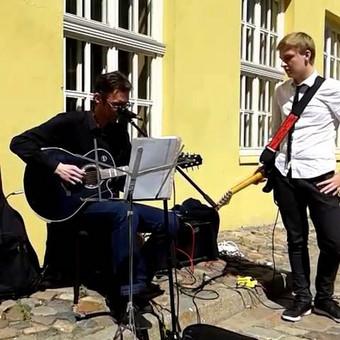 "Alex Guru - Shape Of My Heart (by Sting), Gatvės Muzikos Diena (GMD) 2015, 2015-05-16, (Klaipeda, Lithuania) ""Alex Guru Guitar School"""