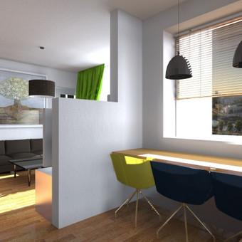 3k. buto virtuvė su svetaine