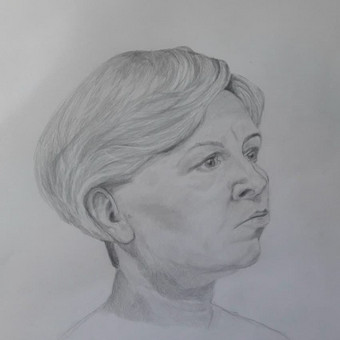 Portreto piešimas pieštuku 50 eur.