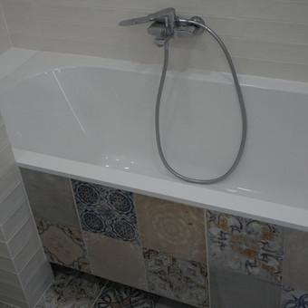 vonios apdirbimas gipsu ir apklijavimas plytelemis