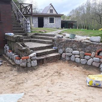 Akmens mūro darbai, Šlaitų ir pakrančių tvirtinimas,Gabion / Saulius / Darbų pavyzdys ID 447211