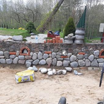 Akmens mūro darbai, Šlaitų ir pakrančių tvirtinimas,Gabion / Saulius / Darbų pavyzdys ID 447221