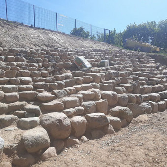 Akmens mūro darbai, Šlaitų ir pakrančių tvirtinimas,Gabion / Saulius / Darbų pavyzdys ID 447229