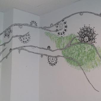 Sienos tapyba. Detalė.