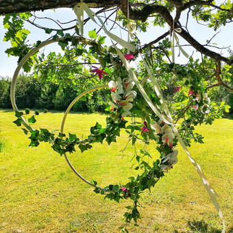 Šampano staliukas, gėlių fotosienos švenčių dekoracijų nuoma / Jurga / Darbų pavyzdys ID 453393