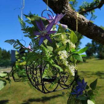 Šampano staliukas, gėlių fotosienos švenčių dekoracijų nuoma / Jurga / Darbų pavyzdys ID 453395
