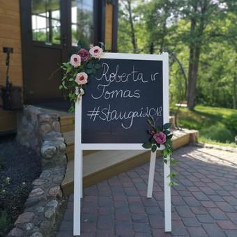 Šampano staliukas, gėlių fotosienos švenčių dekoracijų nuoma / Jurga / Darbų pavyzdys ID 453399