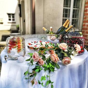 Šampano staliukas, gėlių fotosienos švenčių dekoracijų nuoma / Jurga / Darbų pavyzdys ID 453413