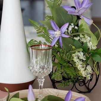 Šampano staliukas, gėlių fotosienos švenčių dekoracijų nuoma / Jurga / Darbų pavyzdys ID 453423