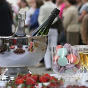 Šampano staliukas, gėlių fotosienos švenčių dekoracijų nuoma / Jurga / Darbų pavyzdys ID 453435