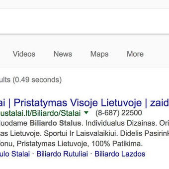 Google reklama / Google Reklama / Darbų pavyzdys ID 454697