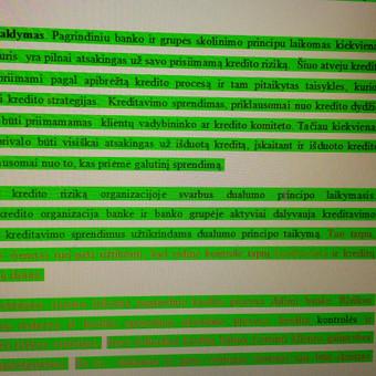 Atlikta referavimo paslauga, rezultatas - sumažintas plagiatas, tekstas įgauna originalumo.