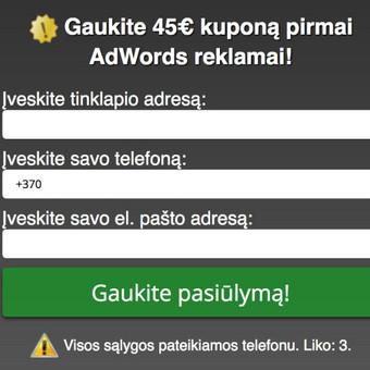 Google reklama / Google Reklama / Darbų pavyzdys ID 454879