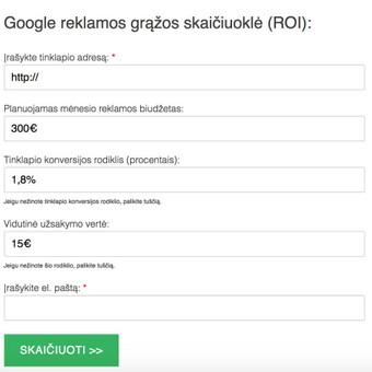 Google reklama / Google Reklama / Darbų pavyzdys ID 454905