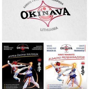 """Okinava karatė sporto klubo logotipo dizainas. Atliktas """"facelift"""", pagerintas skaitomumas, suderintas spalvingumas ir bendra kompozicija. Taip pat padaryta įvairūs plakatai ir skrajutės."""
