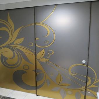 Plėvelės klijavimas, stiklo sienelės / Stiklo Spalvos / Darbų pavyzdys ID 67749