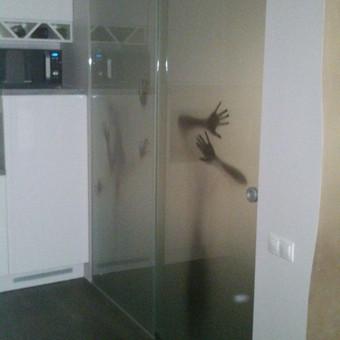 Plėvelės klijavimas, stiklo sienelės / Stiklo Spalvos / Darbų pavyzdys ID 67760
