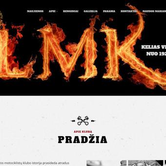 """Asociacija """"Lietuvos Motociklistų Klubas (LMK)"""" internetinio https://lmk1928.lt  tinklalapio sukūrimas."""