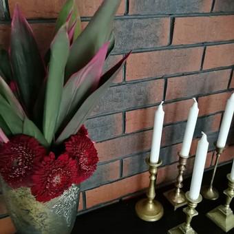 Žalvarinių žvakidžių nuoma, turimas kiekis +- 40 vnt, nuoma 1,5 eur vnt.