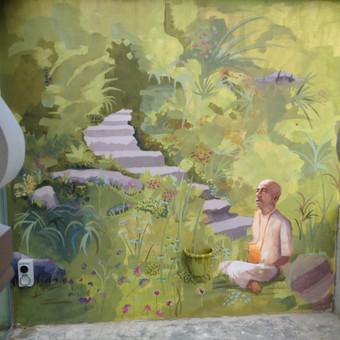 Užsakymas Krišnaitų šventyklai, akriliniai dažai.