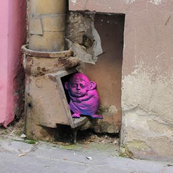 """""""Peliažmogis"""" - gatvės meno objektas"""