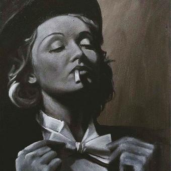 Tapyba ant drobės. Marlene Dietrich