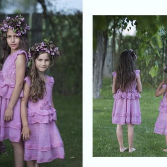 Nertos suknelės mergaitėms