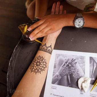 Piešiu laikinas henna chna tatuiruotes Vilniuje / Sigita Žvirgždaitė / Darbų pavyzdys ID 461897