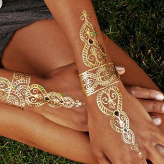 Piešiu laikinas henna chna tatuiruotes Vilniuje / Sigita Žvirgždaitė / Darbų pavyzdys ID 461901