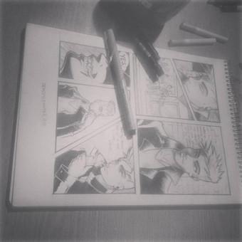 demo puslapis naujam manga stiliaus komiksui