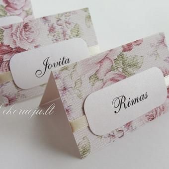 Romantiškos stalo kortelės