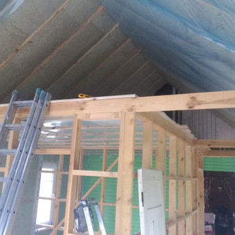 Karkasiniu namu statyba remontas  renovavimas Stogu dengimas / ovidijus / Darbų pavyzdys ID 465029