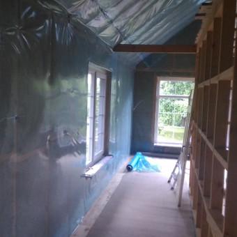 Karkasiniu namu statyba remontas  renovavimas Stogu dengimas / ovidijus / Darbų pavyzdys ID 465031