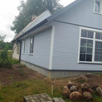 Karkasiniu namu statyba remontas  renovavimas Stogu dengimas / ovidijus / Darbų pavyzdys ID 465033