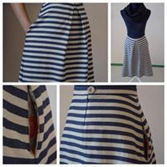 Pamačiusi šį audinį iš karto supratau, kad tai turi būti sijonas, kviečiantis atostogauti prie jūros.