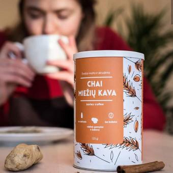 Etiketės ekologiškam miežių kavos gėrimui
