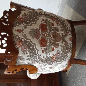 Rokoko stiliaus baldai / Odinė Sofa / Darbų pavyzdys ID 468967