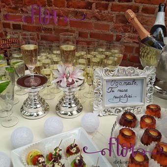 Šampano staliukas, gėlių fotosienos švenčių dekoracijų nuoma / Jurga / Darbų pavyzdys ID 469061