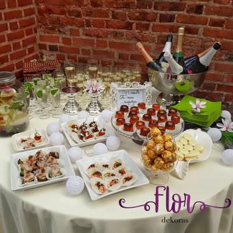 Šampano staliukas, gėlių fotosienos švenčių dekoracijų nuoma / Jurga / Darbų pavyzdys ID 469063