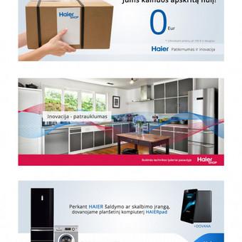 Reklamos banneriai ir dizaino apipavidalinimas. www.haiershop.lt