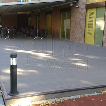Wpc terasa lauko kavinėje