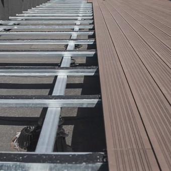 WPC terasos montavimo darbai