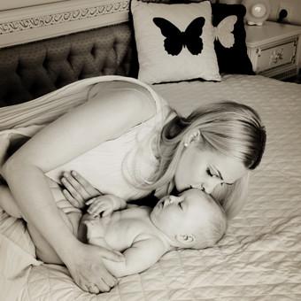 kūdikio ir mamos , šeimos fotosesija