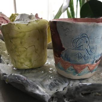 Keramika/Ebru/Patyriminiai užsiėmimai/stovyklos / Elena / Darbų pavyzdys ID 471115
