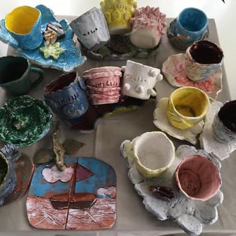Keramika/Ebru/Patyriminiai užsiėmimai/stovyklos / Elena / Darbų pavyzdys ID 471119