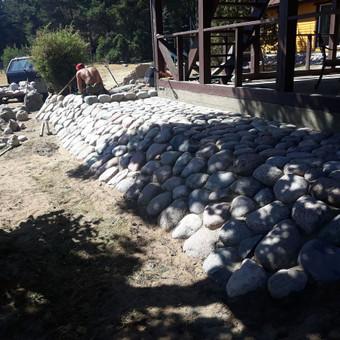 Akmens mūro darbai, Šlaitų ir pakrančių tvirtinimas,Gabion / Saulius / Darbų pavyzdys ID 471237