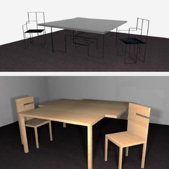 Valgomojo ir darbo stalų dizainas
