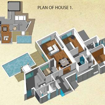 Privataus namo Portugalijoje projektavimo pasiūlymas