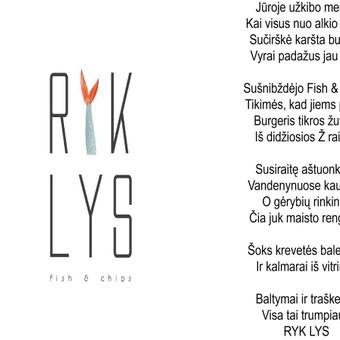Prekinio ženklo įvaizdžio kūrimas. Prekės ženklo legenda. Užsakovas: Ryk Lys foodtruck.