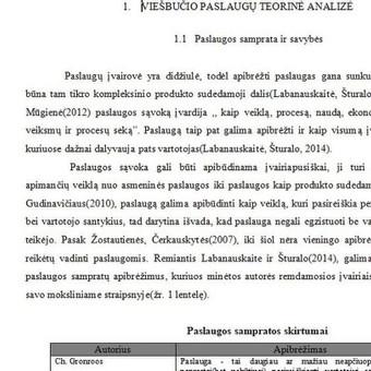 Darbų taisymas, referavimas,mokslinių šaltinių paieška / Akademinės /rašymo paslaugos / Darbų pavyzdys ID 475511